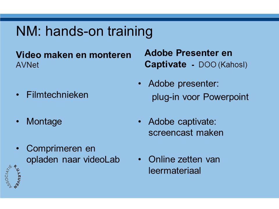 NM: hands-on training Video maken en monteren AVNet