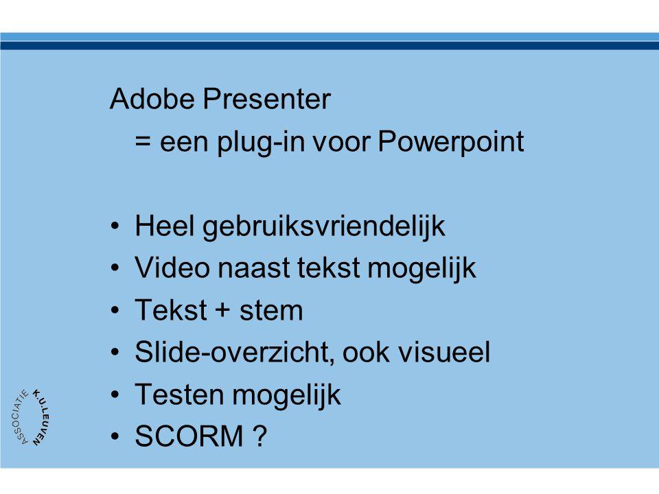 = een plug-in voor Powerpoint Heel gebruiksvriendelijk
