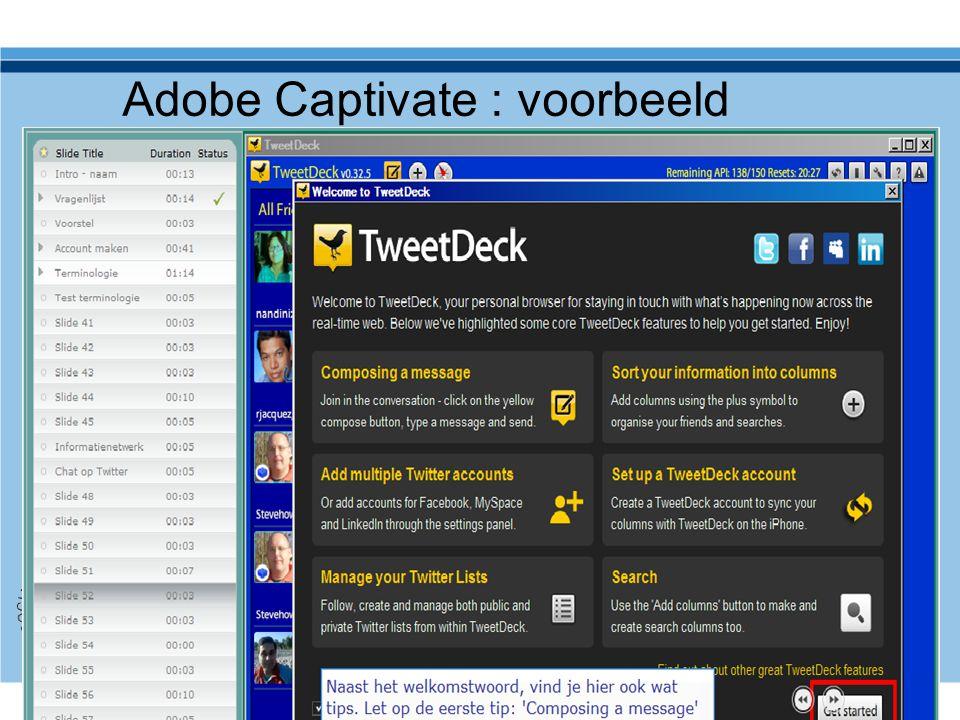 Adobe Captivate : voorbeeld