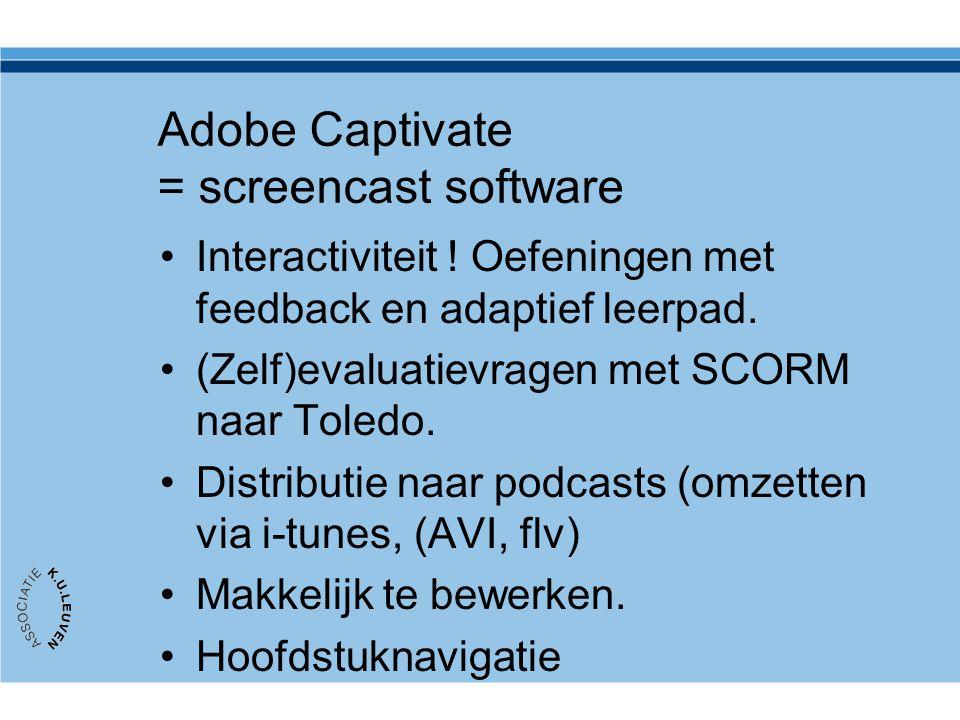 Adobe Captivate = screencast software