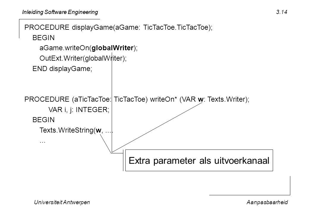 Extra parameter als uitvoerkanaal