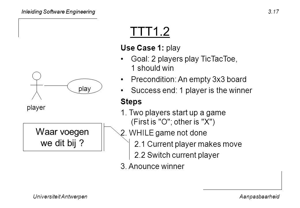 TTT1.2 Waar voegen we dit bij Use Case 1: play