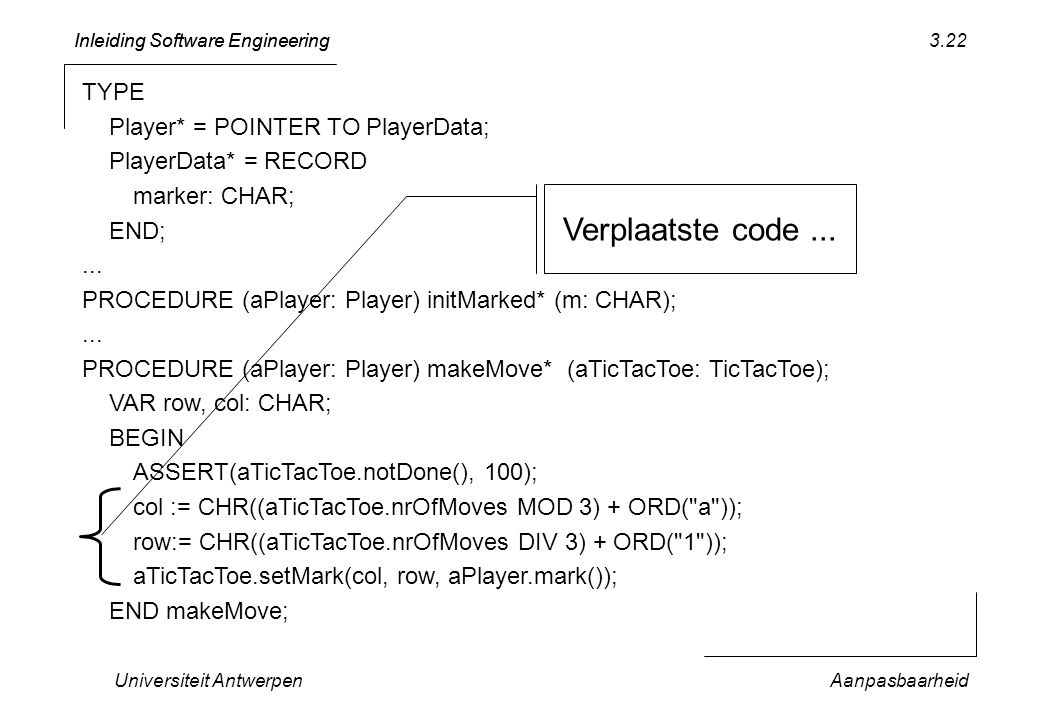 Verplaatste code ... TYPE Player* = POINTER TO PlayerData;