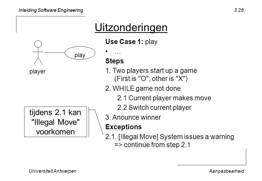 Uitzonderingen tijdens 2.1 kan Illegal Move voorkomen