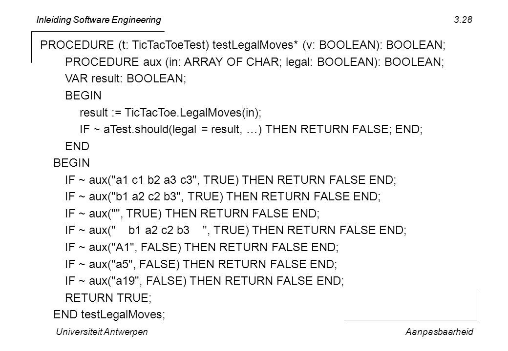 PROCEDURE (t: TicTacToeTest) testLegalMoves* (v: BOOLEAN): BOOLEAN;