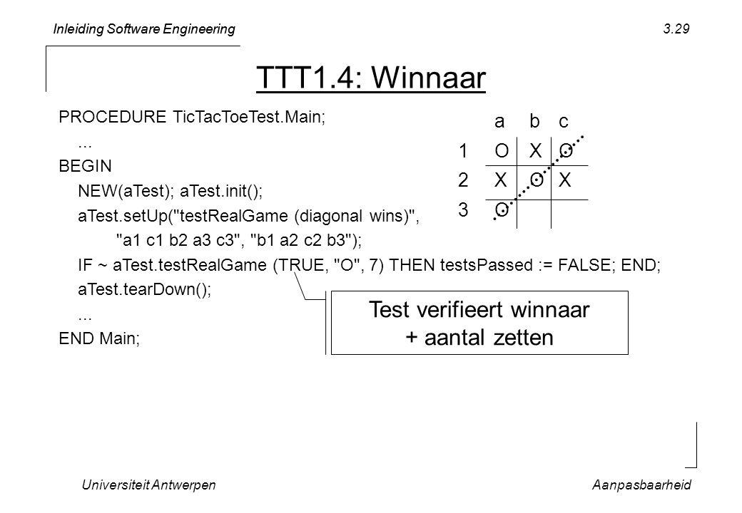 Test verifieert winnaar + aantal zetten