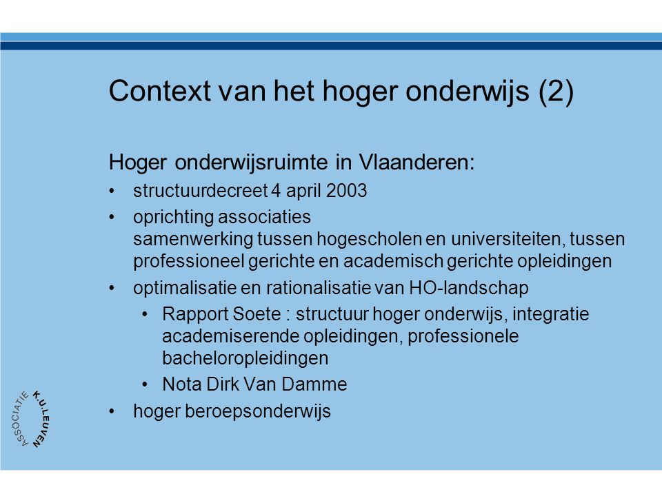 Context van het hoger onderwijs (2)