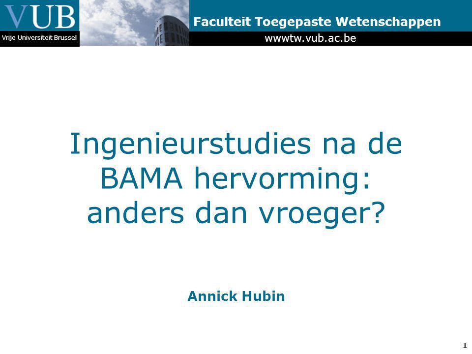 Ingenieurstudies na de BAMA hervorming: anders dan vroeger