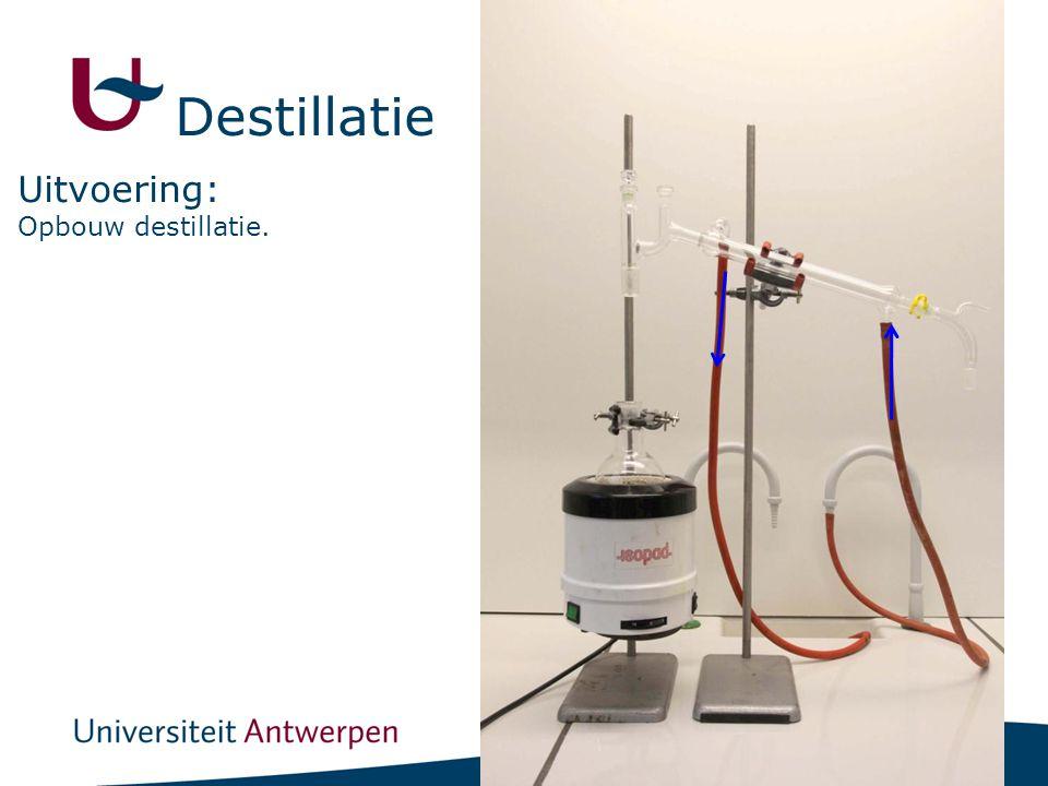 Destillatie Uitvoering: Opbouw destillatie.