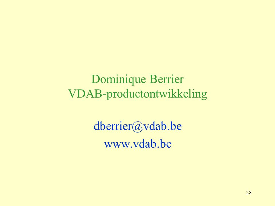 Dominique Berrier VDAB-productontwikkeling