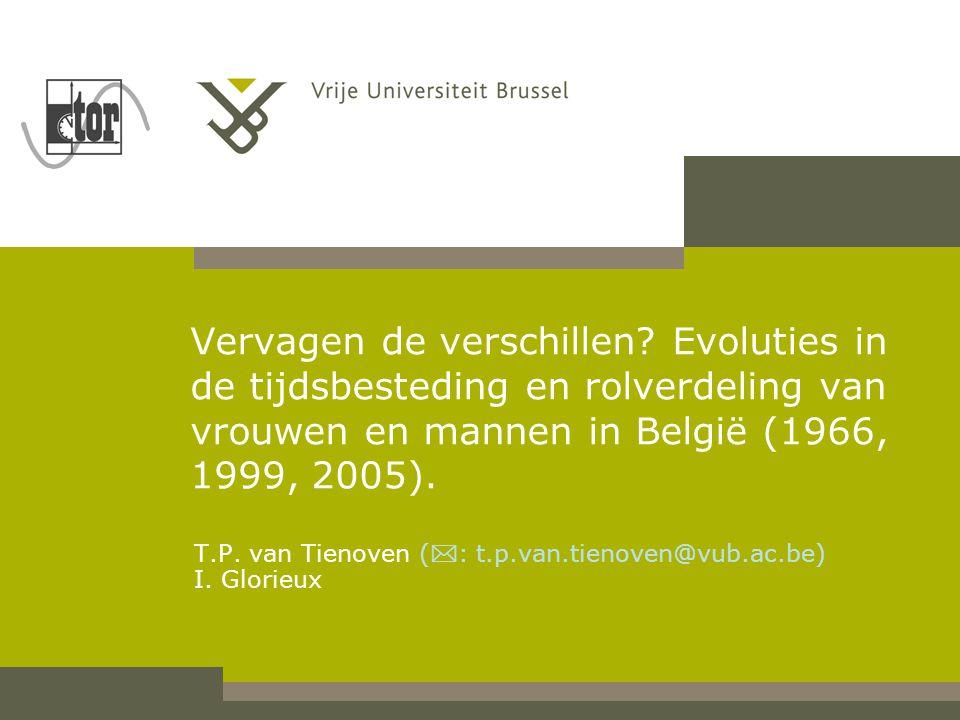 T.P. van Tienoven (: t.p.van.tienoven@vub.ac.be) I. Glorieux