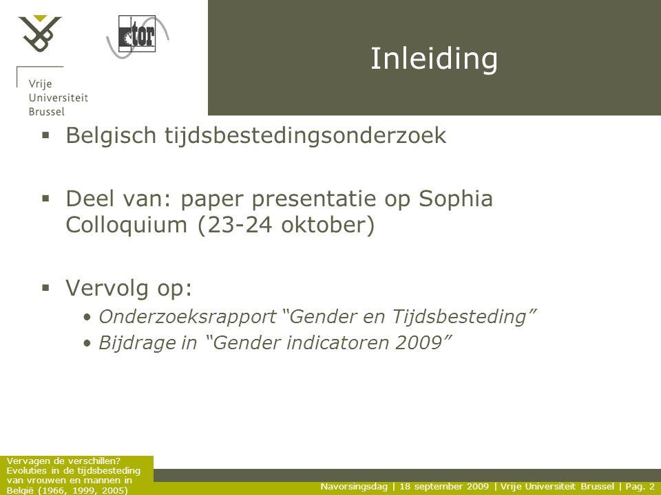 Inleiding Belgisch tijdsbestedingsonderzoek
