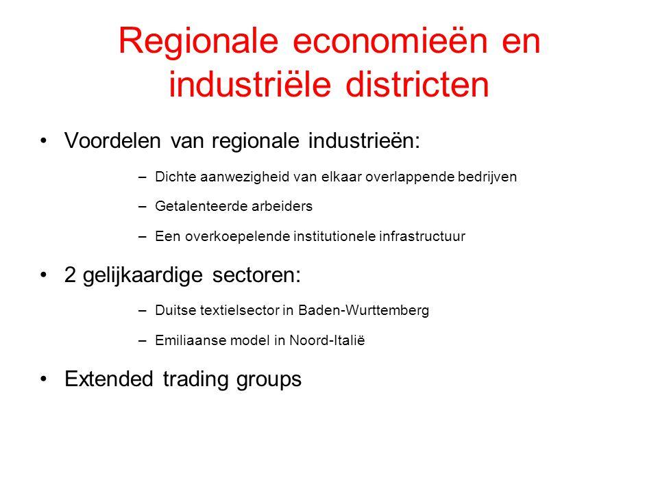 Regionale economieën en industriële districten