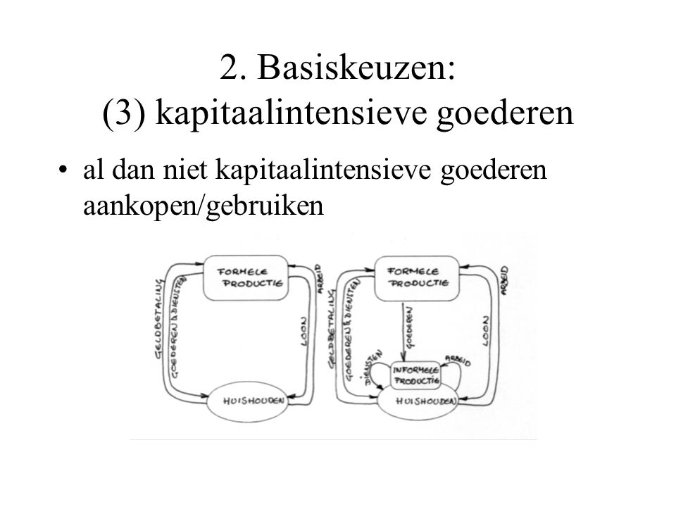 2. Basiskeuzen: (3) kapitaalintensieve goederen