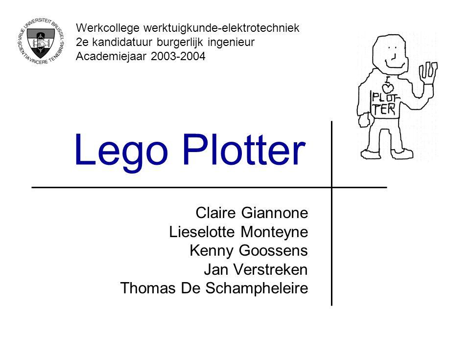 Lego Plotter Claire Giannone Lieselotte Monteyne Kenny Goossens