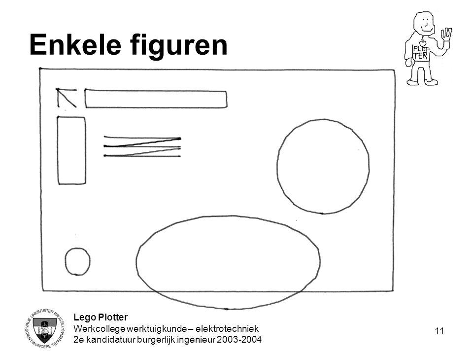 Enkele figuren Lego Plotter