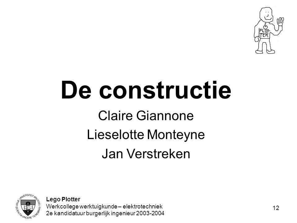 De constructie Claire Giannone Lieselotte Monteyne Jan Verstreken