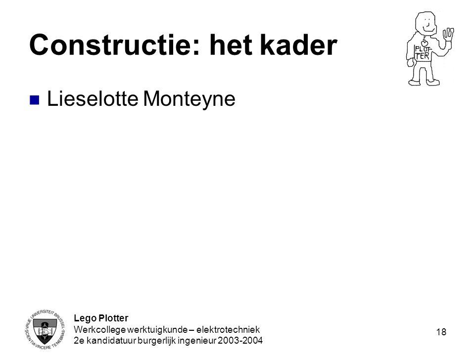 Constructie: het kader
