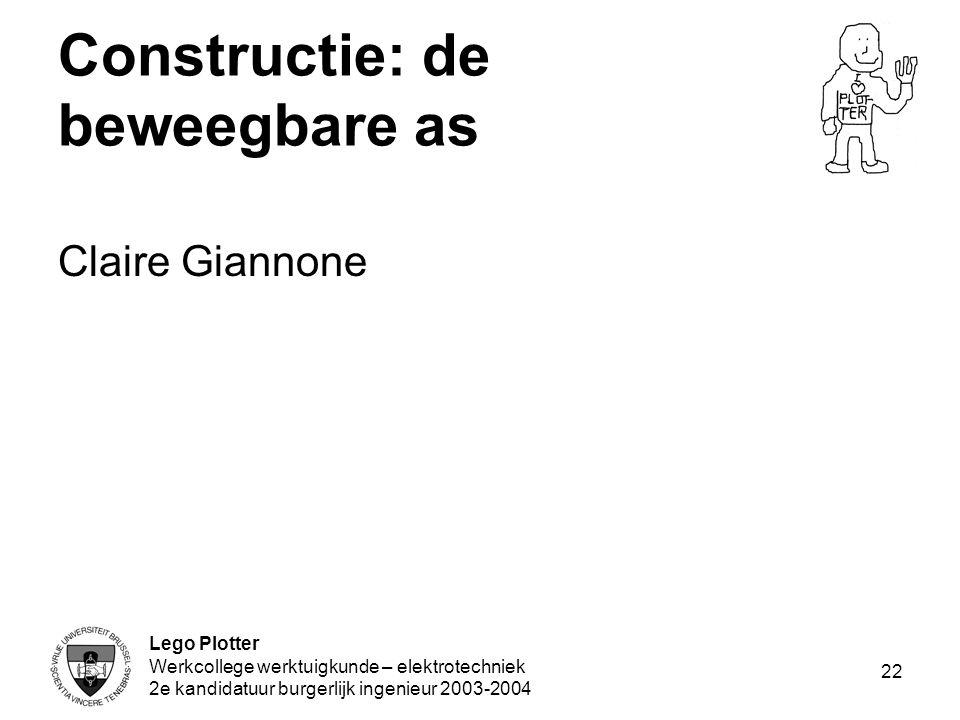 Constructie: de beweegbare as