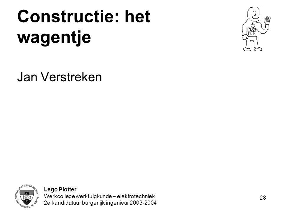 Constructie: het wagentje