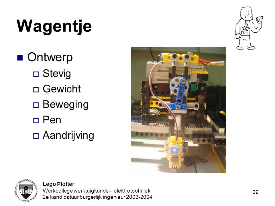 Wagentje Ontwerp Stevig Gewicht Beweging Pen Aandrijving Lego Plotter