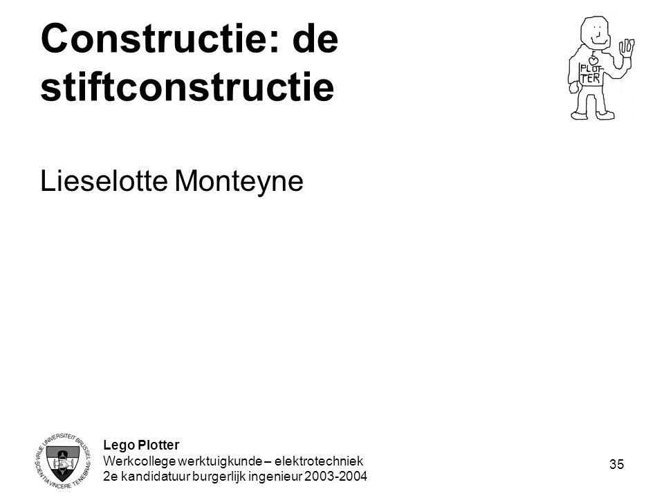 Constructie: de stiftconstructie