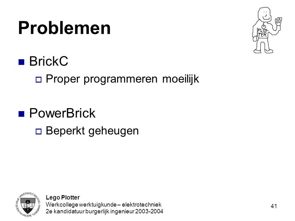 Problemen BrickC PowerBrick Proper programmeren moeilijk