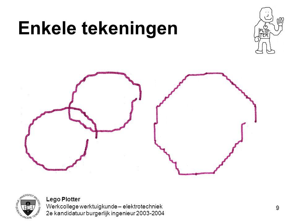 Enkele tekeningen Lego Plotter