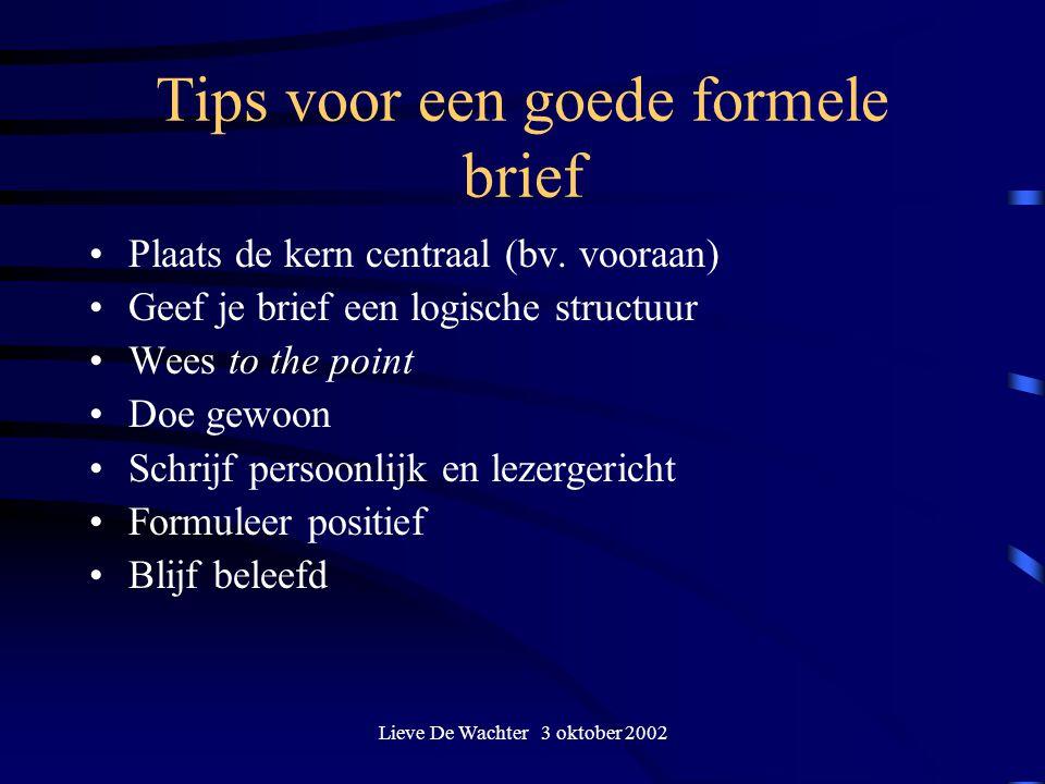 Tips voor een goede formele brief