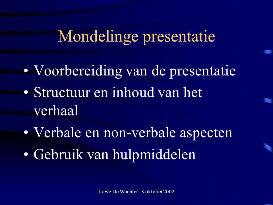 Mondelinge presentatie
