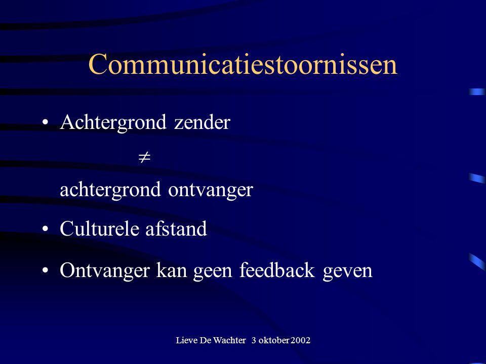Communicatiestoornissen