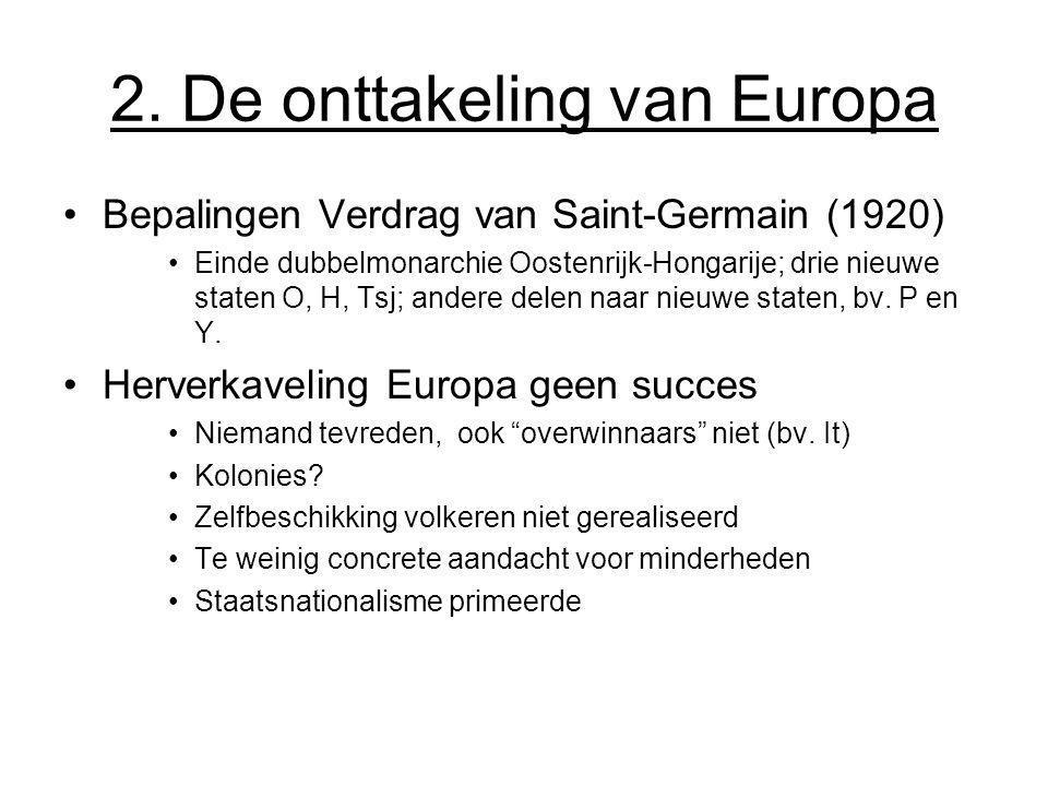 2. De onttakeling van Europa