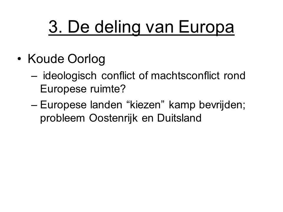 3. De deling van Europa Koude Oorlog