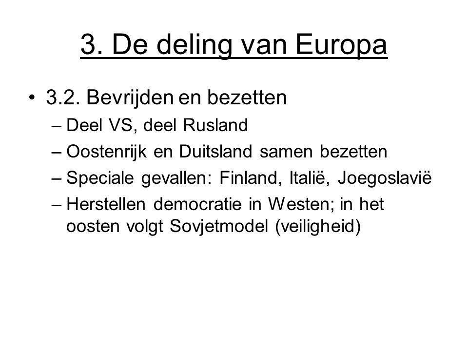 3. De deling van Europa 3.2. Bevrijden en bezetten