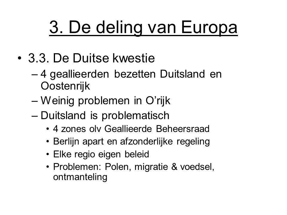 3. De deling van Europa 3.3. De Duitse kwestie