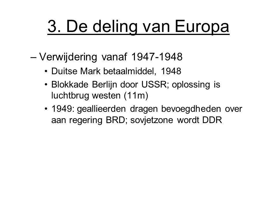 3. De deling van Europa Verwijdering vanaf 1947-1948