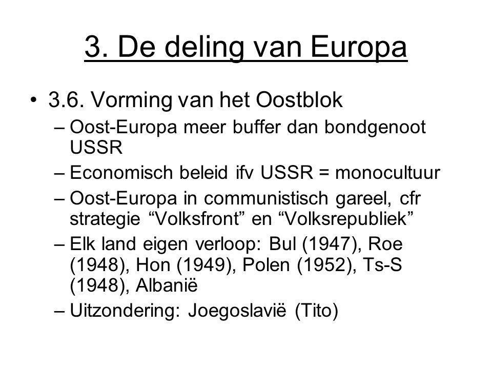 3. De deling van Europa 3.6. Vorming van het Oostblok