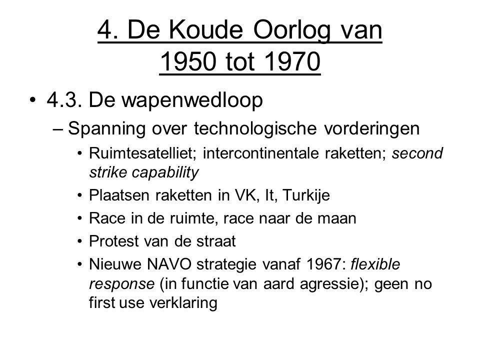 4. De Koude Oorlog van 1950 tot 1970 4.3. De wapenwedloop