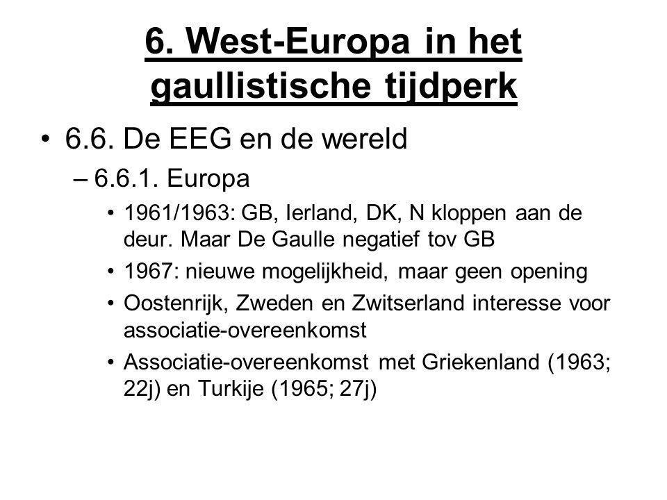 6. West-Europa in het gaullistische tijdperk