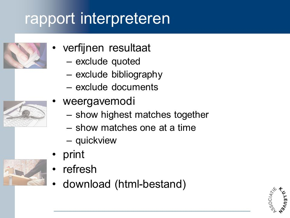 rapport interpreteren