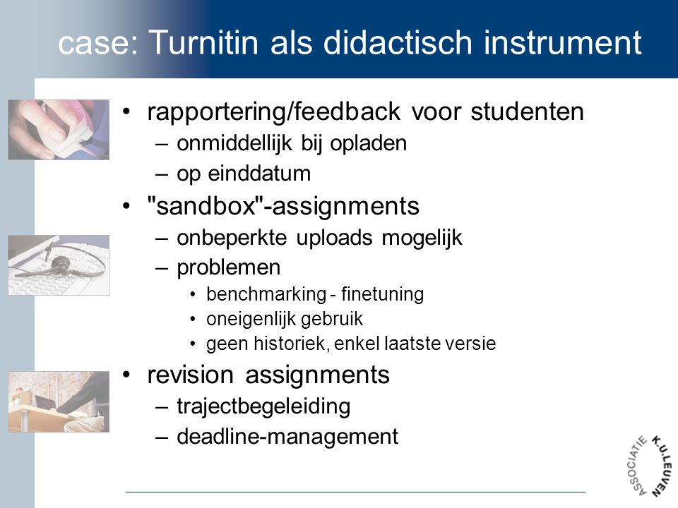 case: Turnitin als didactisch instrument