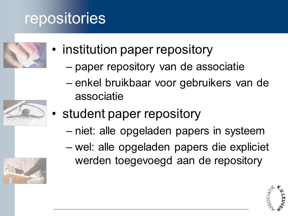 repositories institution paper repository student paper repository