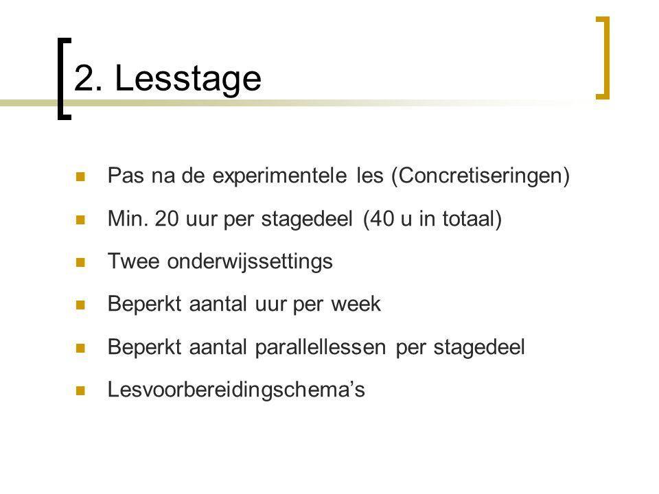 2. Lesstage Pas na de experimentele les (Concretiseringen)