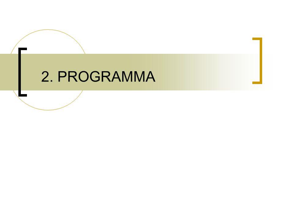 2. PROGRAMMA