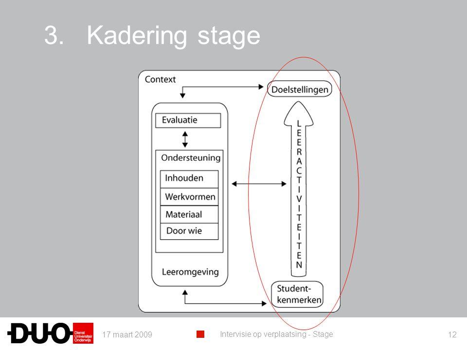 Kadering stage