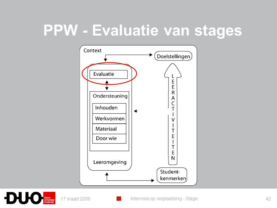 PPW - Evaluatie van stages