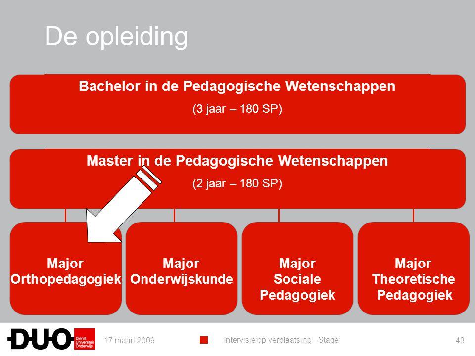 De opleiding Bachelor in de Pedagogische Wetenschappen