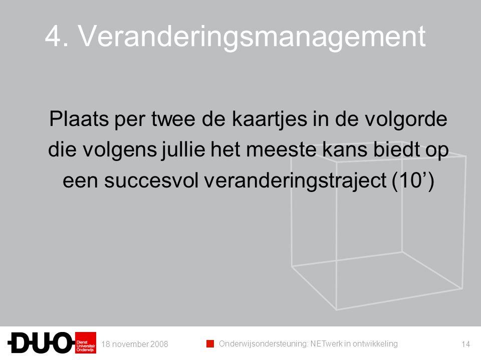 4. Veranderingsmanagement