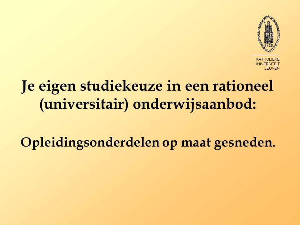 Je eigen studiekeuze in een rationeel (universitair) onderwijsaanbod: