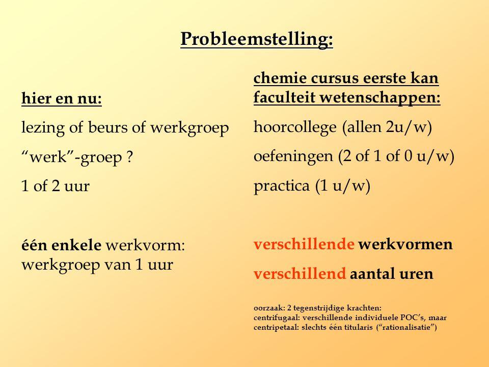 chemie cursus eerste kan faculteit wetenschappen: